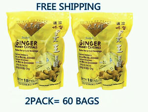 2-Prince-of-Peace-Instant-Ginger-Honey-Crystals-Tea-30-18g-Bags-each-pack
