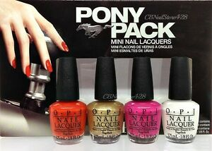 Image Is Loading Opi Nail Lacquer Pony Pack Mini Collection Mustang