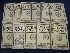 1889 SCRIBNER'S MAGAZINE LOT OF 11 ISSUES - GREAT ADS & ILLUSTRATIONS - WR 570D