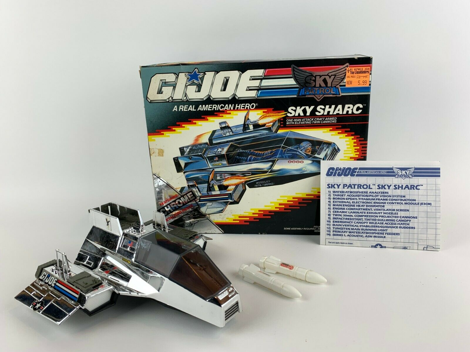 GI Joe ARAH Sky Sharc Vehicle Complete in Box Hasbro