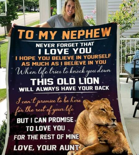 Lion Aunt To My Nephew Never Forget That I Love You Sherpa Blanket
