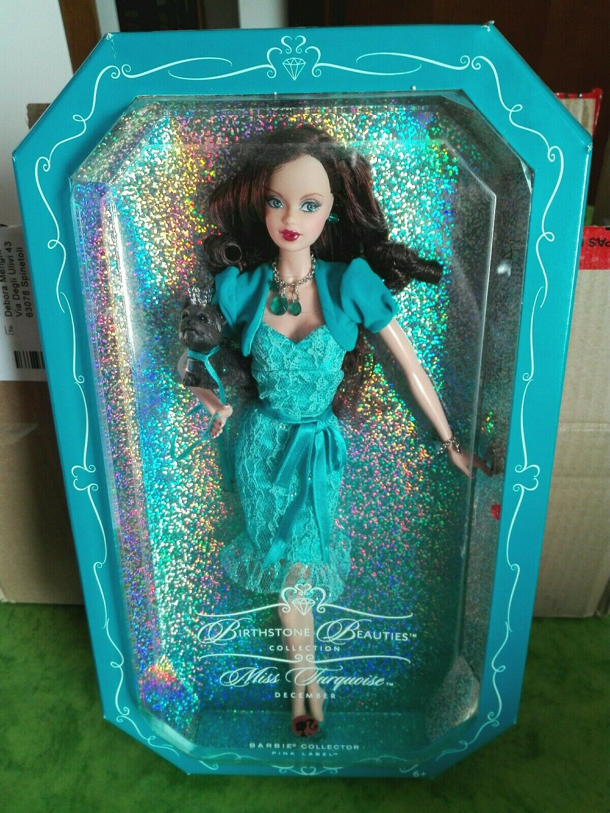 BARBIE BIRTHSTONE BEAUTIES DECEMBER TURQUOISE NRFB - new model muse doll Mattel