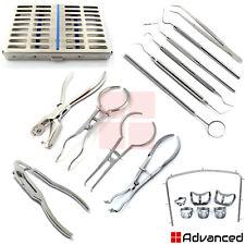 Dental Rubber Dam Instruments Kits Endodontic Brinker Clamps Frame Punch Forceps