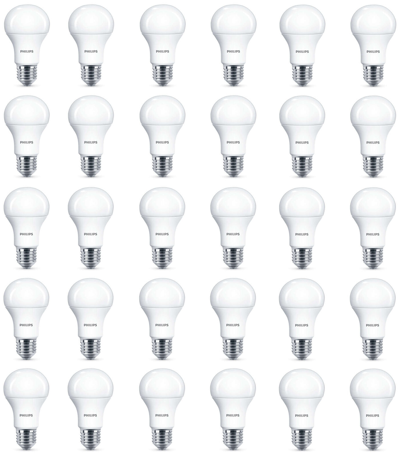 30 x Philips LED Frosted E27 Edison Screw 100w Warm blanco Light Bulb Lamp 1521lm