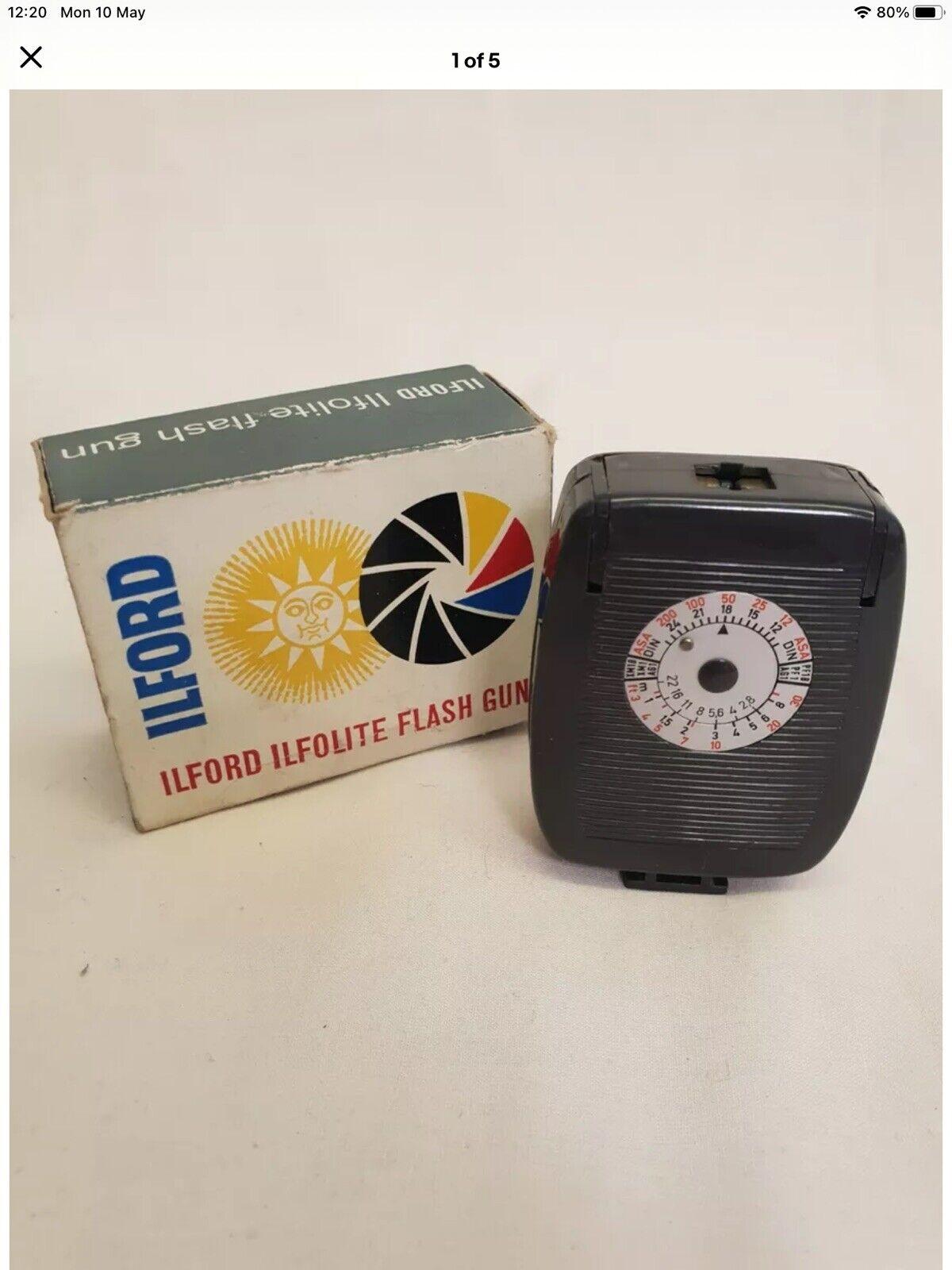 Ilford Ilfolux Flash Gun In Box And Case