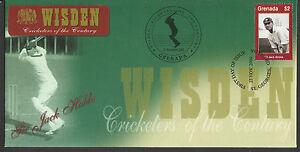 GRENADA-WISDEN-2000-CRICKET-SIR-JACK-HOBBS-1v-FIRST-DAY-COVER-No-2-of-4