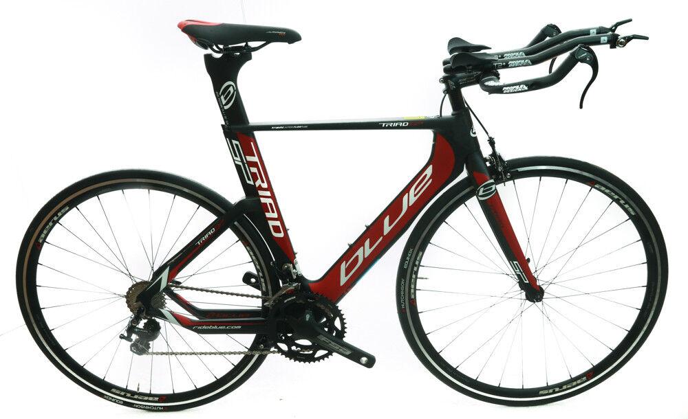 blueE Triad SP 50cm Carbon Time Trial Triathlon Bike Shimano 105 2 x 11 Speed NEW