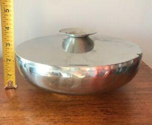 Vintage-Kalmar-Stainless-Steel-Denmark-Warmer-Serving-Dish-Lid-18-8-A3