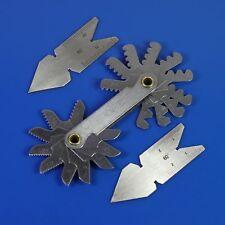 Screw thread pitch cutting gauge tool set 3pcs center gage 60° Inch /& Metric set