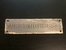 Westinghouse Brass Name Plate Tag 5 X 125