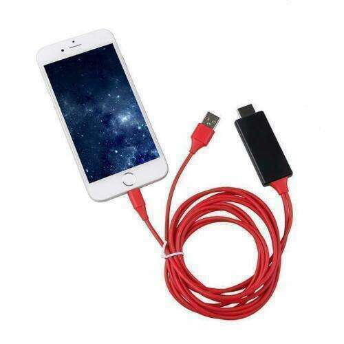 Lighting to HDTV HDMI AV TV Adapter Video Output 2M Cable
