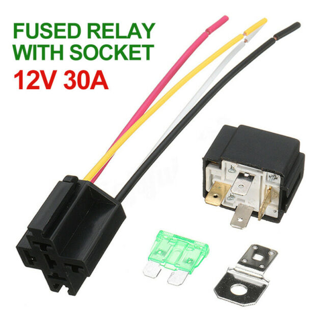 Ab  Dc 12v 30a 4pin Electronic Relay Car Automotive Fuse