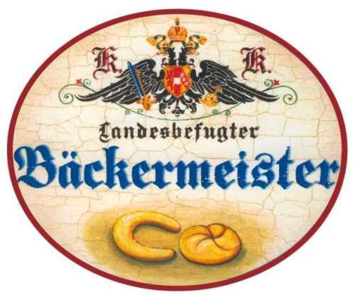 Bäckermeister Semmel Nostalgieschild