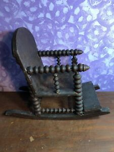 Brilliant Details About Rare Antique Primitive Wooden Spool Child Rocking Chair Lamtechconsult Wood Chair Design Ideas Lamtechconsultcom