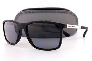 c84a1576d2c Brand New EMPORIO ARMANI Sunglasses 4058 5063 81 BLACK GREY Men ...