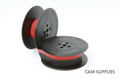 COMPATIBLE TYPEWRITER RIBBON FITS BROTHER 215 BLACK BLACK//RED TWIN SPOOLS