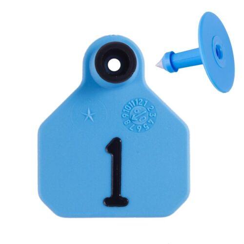 Y-TEX MINI 1-STAR TAGS Sheep/Goat/Pig Fade Tear Resistent #1-25 Blue 25ct