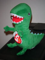 Ty Beanie Baby Mr. Dinosaur The Uk Peppa Pig Theme Park Exclusive Mint