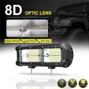 7-039-039-216W-21600LM-8D-LED-Arbeitsscheinwerfer-Flutlicht-Fahrlampe-SUV-ATV-Offroad