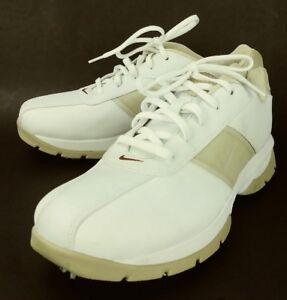 Objetivo viuda amplificación  Nike Wos Golfing Shoes Sneakers US 9 White Beige Leather Lace Oxfords 2642  | eBay