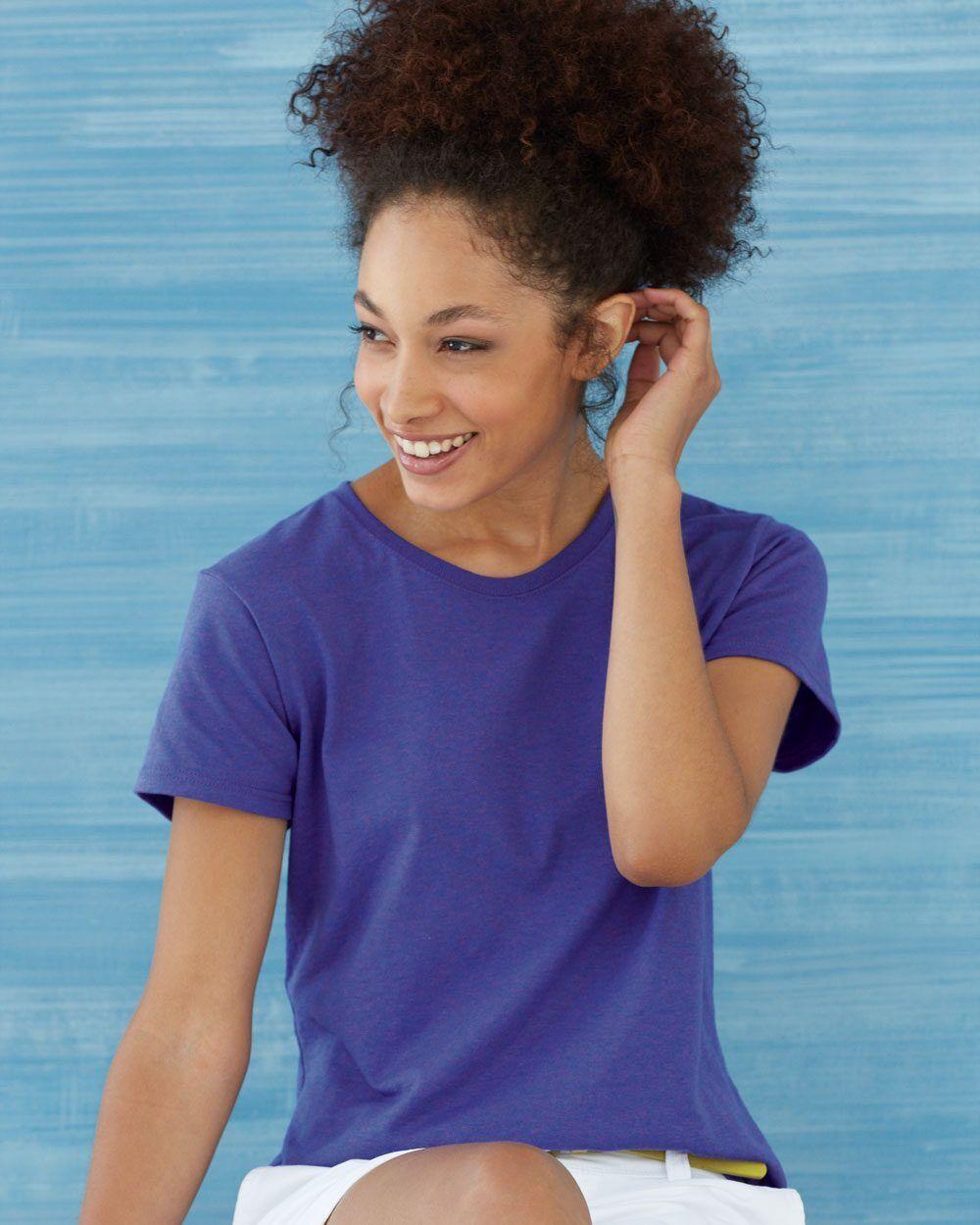 25 Gildan Ladies Heavy Cotton T-Shirt 5000L Bulk Lot ok to mix S-XL & Farbes