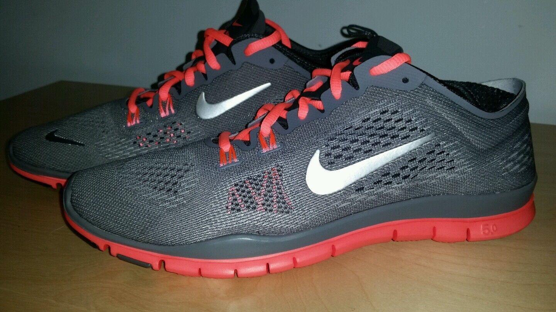 Nike Free TR Fit 4 Running Shoes Women's US 10 Mango   Anthracite Grey Mango 10 NEW 890bfe