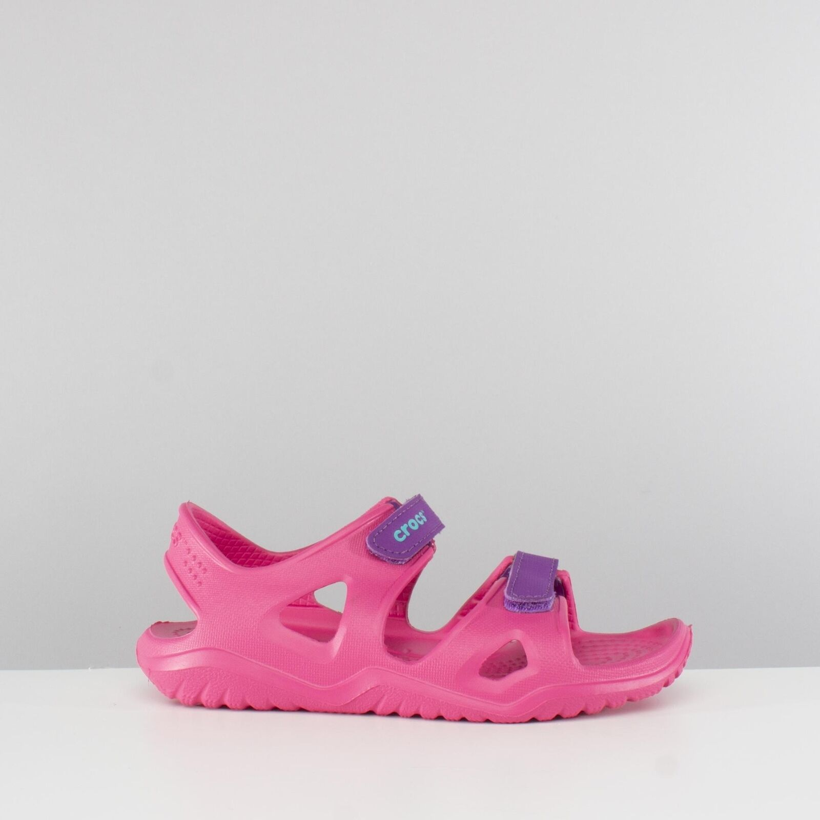 393f16dbf864 Crocs Unisex Kids Swiftwater River Open Toe Sandals Pink Summer ...