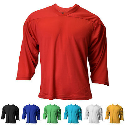 promo code 3a2f5 5e088 New Reebok / CCM Youth 3/4 Sleeve Air-Knit Hockey Practice Jersey in 7  Colors | eBay