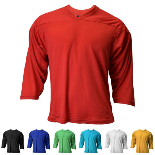 New Reebok CCM Youth 3//4 Sleeve Air-Knit Hockey Practice Jersey in 7 Colors