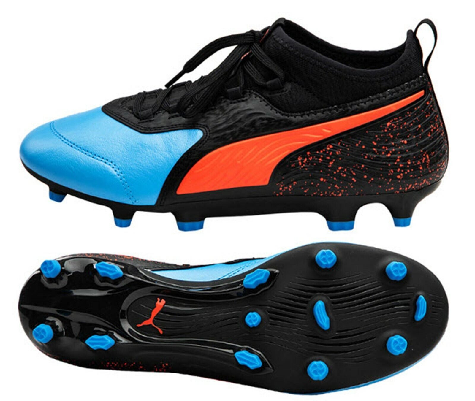 PUMA Men ONE 19.3 FG AG Cleats Blau Football Soccer schuhe Stiefel Spike 10548601
