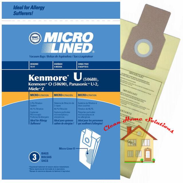 Kenmore 50688 Panasonic U 2 Miele Z Vacuum Bags Package Of 3