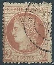 1871-75 FRANCIA USATO CERERE 2 CENT - EDF211-2