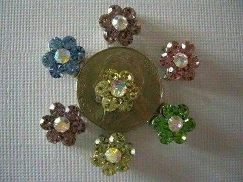 2 Hole Slider Beads Daisy Light Mixed Crystal Made With Swarovski Elements #7