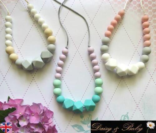Teething necklace teether sensory chew baby wearing autism BPA free ICECREAM GEO