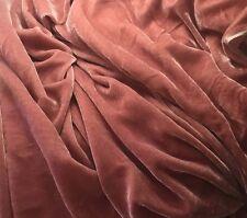 "Silk VELVET Fabric DUSTY ROSE 6""x22"" remnant"