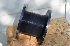 New Teflon Silver Plate Wire 18 Awg Black M16878 1930 Guaranteed 18ga Cable