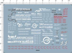 HG 1//144 GUNDAM DESTINY ZGMF-X19A INFINITE JUSTICE Model Water Slide Decal