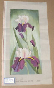 *New* LEE  Lavender Orchid Flower Series handpainted Needlepoint 12 mesh Canvas
