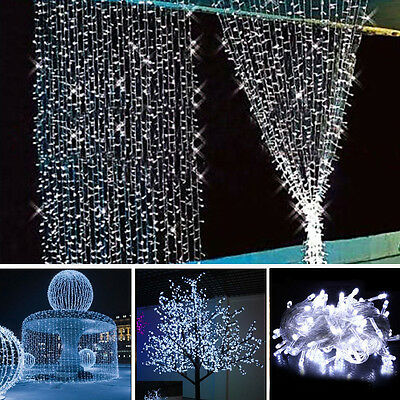 10m 100 led christmas wedding xmas party decor outdoor fairy string light lamp - Led Christmas Decorations Outdoor