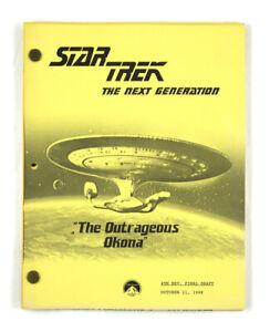 "STAR TREK: TNG ORIGINAL SCRIPT- ""The Outrageous Okona,"" Teleplay by Burton Armus"