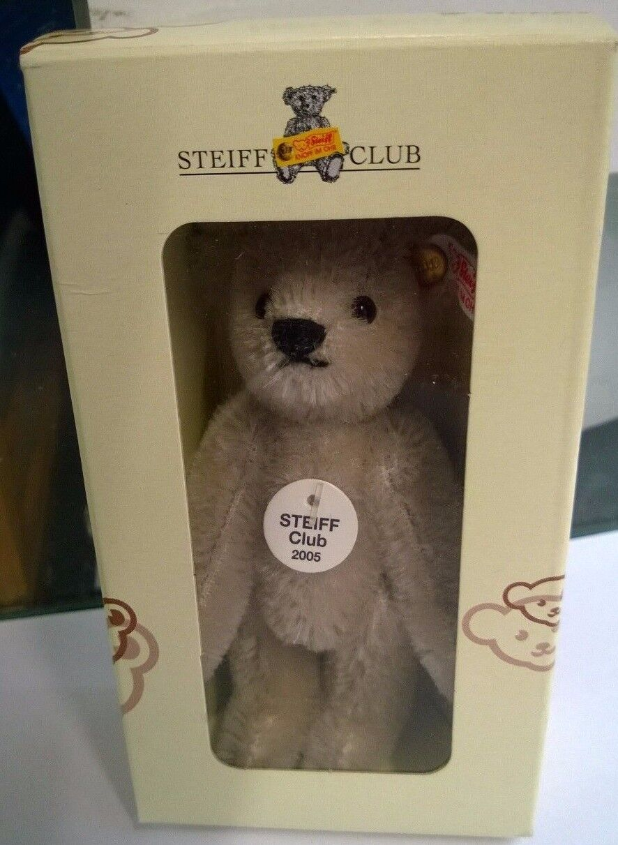 Steiff Vintage soft toy Miniature Steiff Club Sliver Grey Bear 2005 Free Post UK