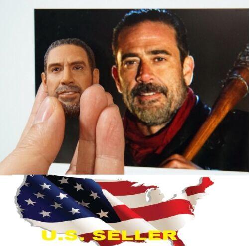 1//6 negan Head The Walking Dead Jeffrey Dean Morgan pour HOT TOYS PHICEN USA