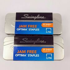 2 Boxes Swingline 35556 Optima Premium Staples 14 Jam Free 3750 Per Box