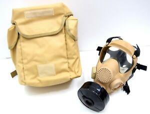 NATO-Issue-Desert-Gas-Mask-NBC-Hot-Weather-Army-Tan-Respirator-Set-French-Polish