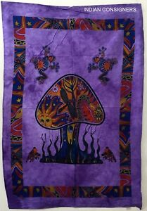 Tapestry-Frog-Mushroom-Design-Indian-Home-Decor-Good-Looking-Small-Poster-Ideal