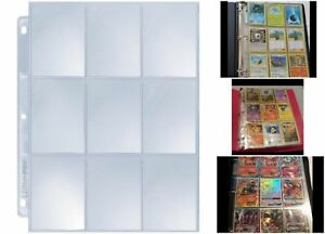 Details About Baseball Pokemon Cards Organizing Sheets Pack Of 25 Pages Per 9 Card Slots
