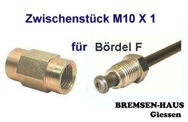 10 cm 2 Bremsleitungen 100 mm Satz Einbaufertig M10 x 1 Bremsrohr F-Bördel