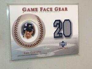 F46427 2003 Upper Deck Game Face Gear Luis Gonzalez Diamondbacks Jersey
