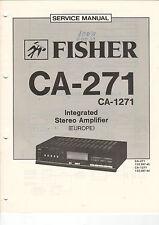 FISHER Service Manual Anleitung CA-271   B1474