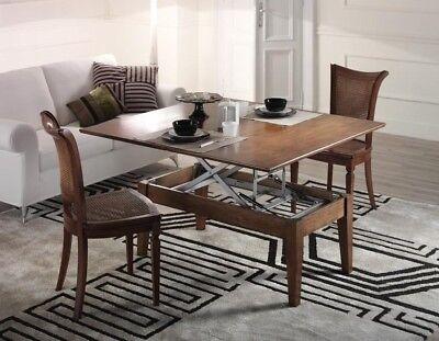 Tavolino trasformabile allungabile rialzabile tavolo ebay for Tavolino salotto allungabile